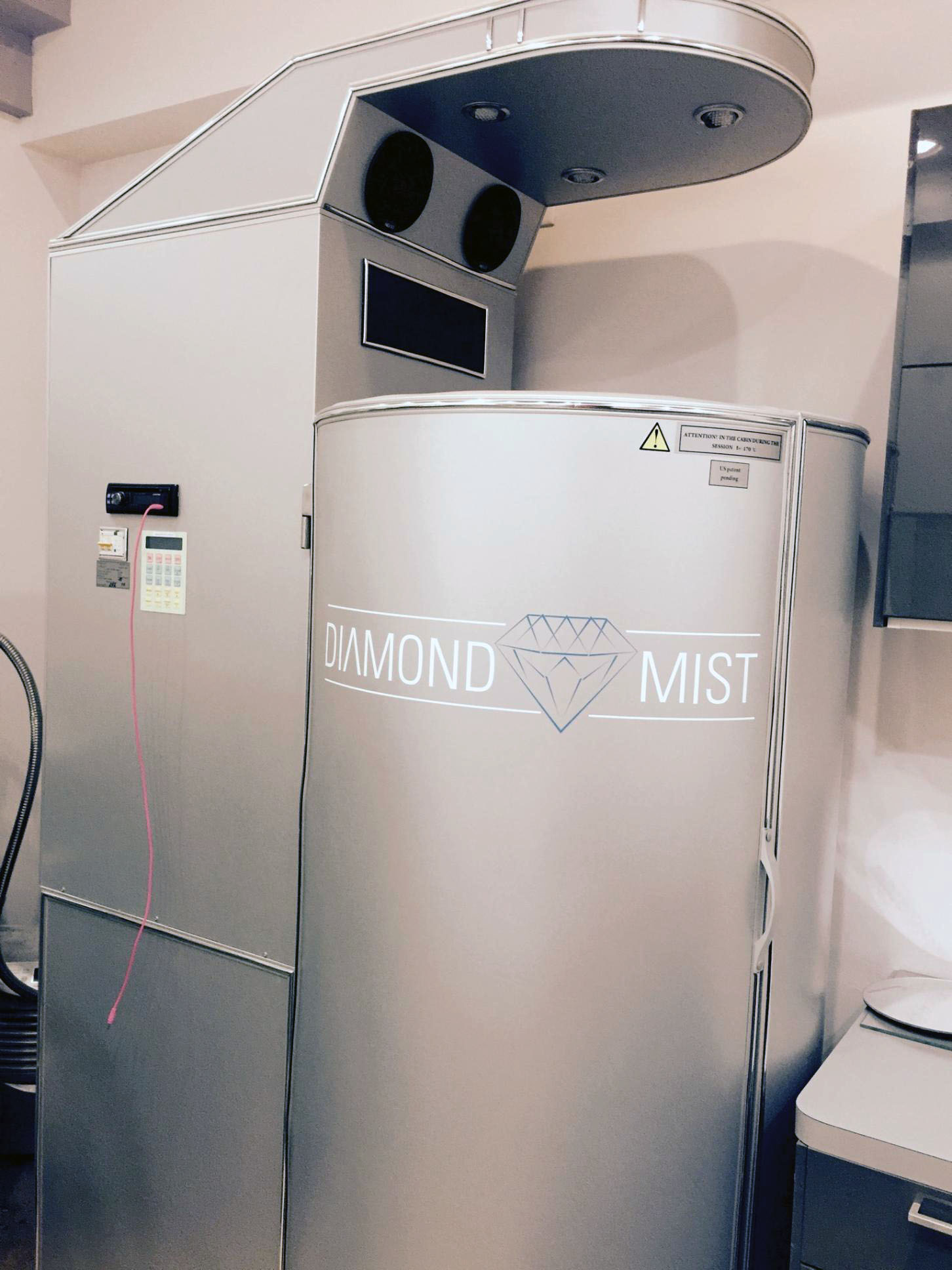 The Diamond Mist cryotherapy chamber provides athletes and others with multiple benefits